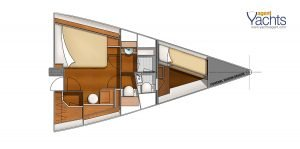 Bordeaux60 forepeak 1 ©CNB Yacht Builders