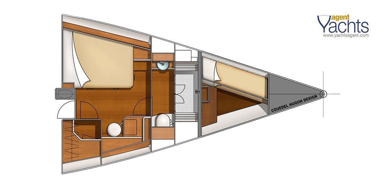 Bordeaux60 forepeak 2 ©CNB Yacht Builders