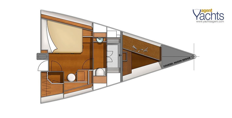 Bordeaux60 forepeak 3 ©CNB Yacht Builders