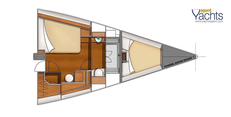 Bordeaux60 forepeak 4 ©CNB Yacht Builders
