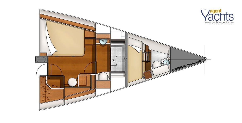 Bordeaux60 forepeak 5 ©CNB Yacht Builders