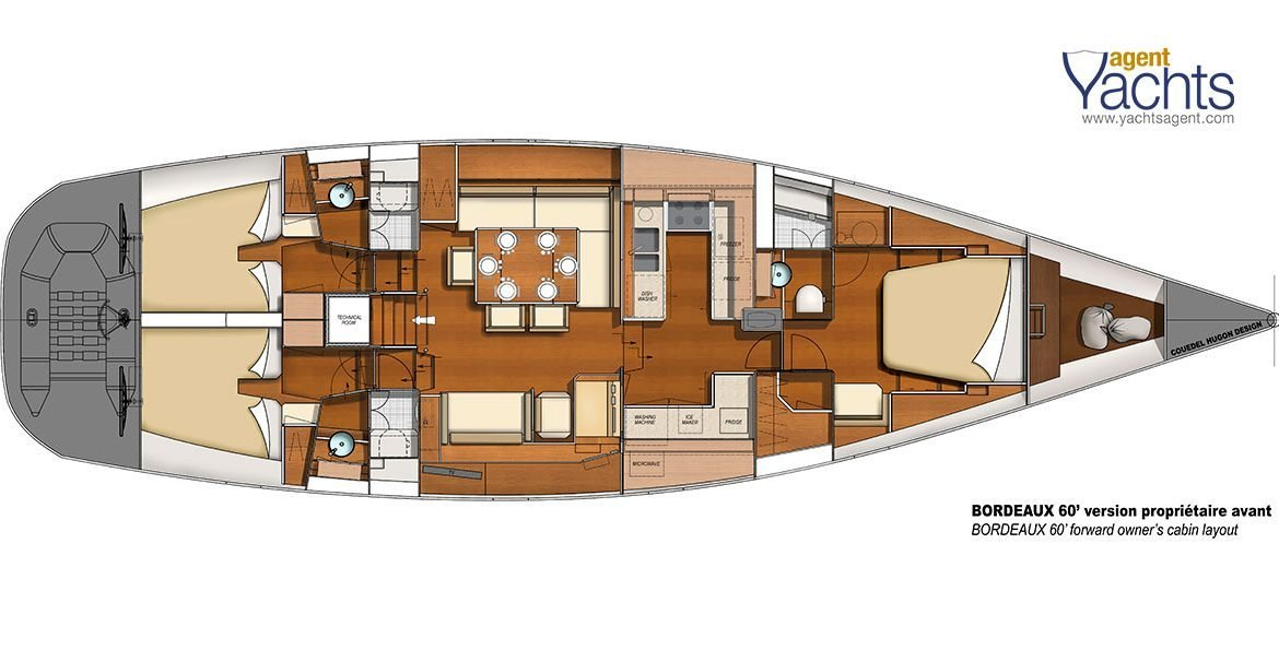 Bordeaux60 layout 2 ©CNB Yacht Builders