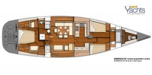 Bordeaux60 layout 3 ©CNB Yacht Builders
