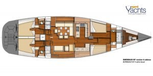 Bordeaux60 layout 4 ©CNB Yacht Builders