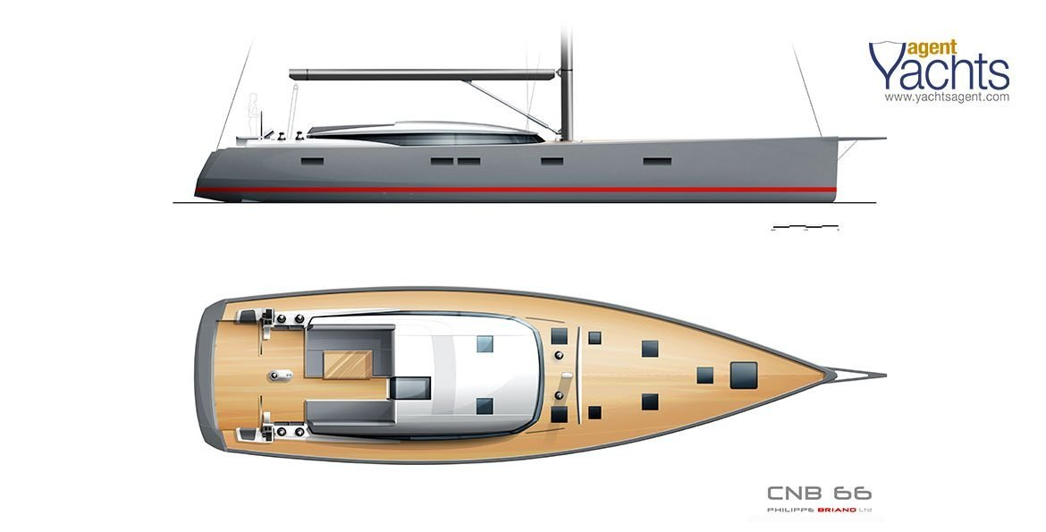 CNB66 profile and deck ©CNB Yacht Builders